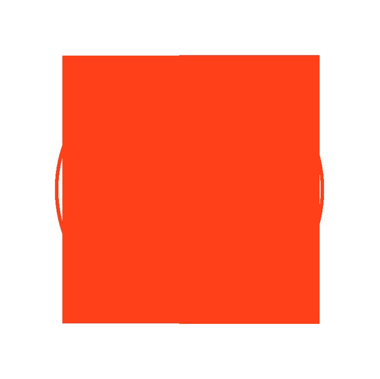 orange circle header